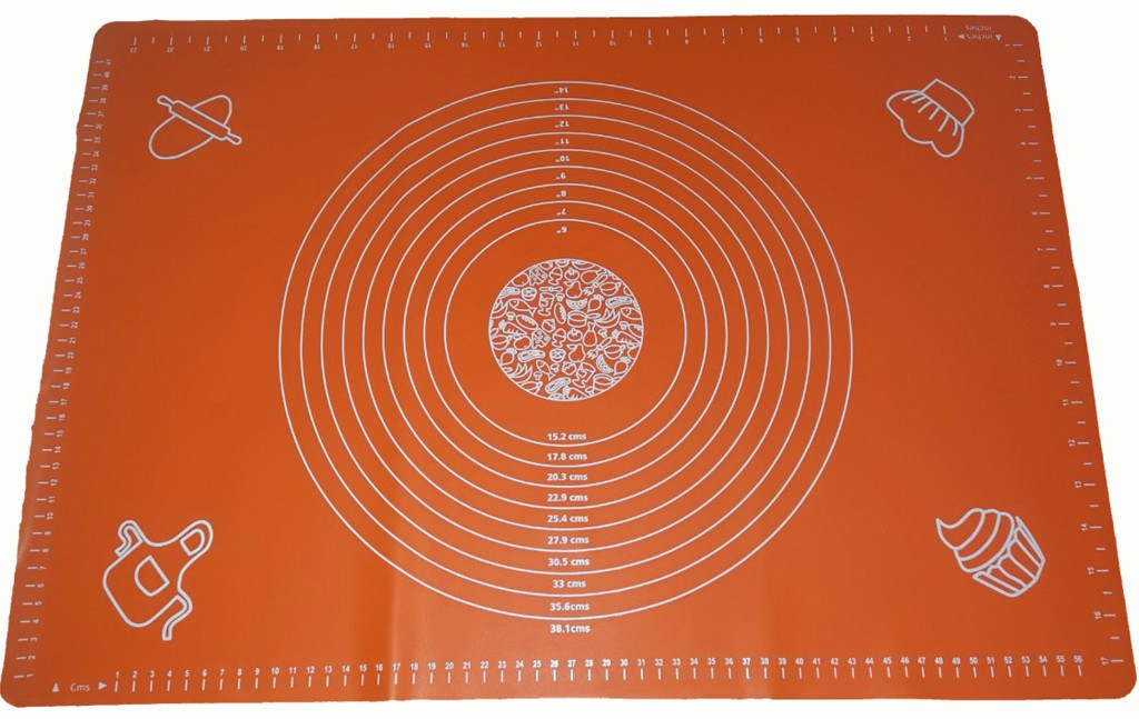 Силиконовый коврик для раскатки и выпечки теста 40 х 50 см Коричневый