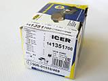 Тормозные колодки задние Renault Trafic / Opel Vivaro / Nissan Primastar (2001-2014) ICER (Испания) 141351700, фото 5