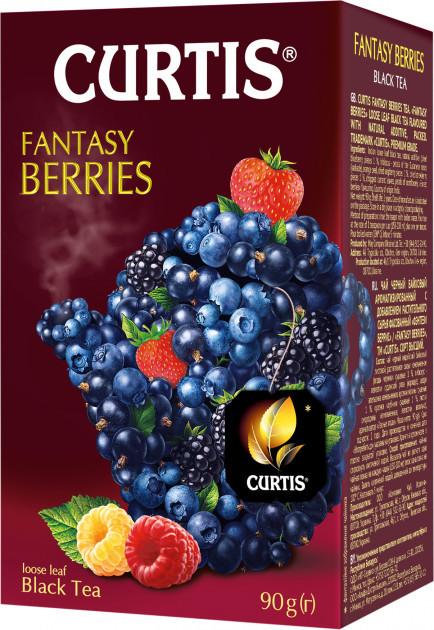 Кертис чай черный с ягодами и мятой Fantasy Berries листовой 90 грамм