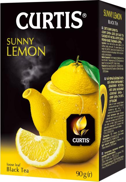 Чай листовий Curtis Sunny Lemon з цедрою цитрусових і пелюстками квітів чорний 90 грам