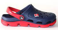 Кроксы, сабо синие / красная подошва. Полноразмерные. Размеры 36, 37, 38, 39, 40, 41. JoAm 116107.