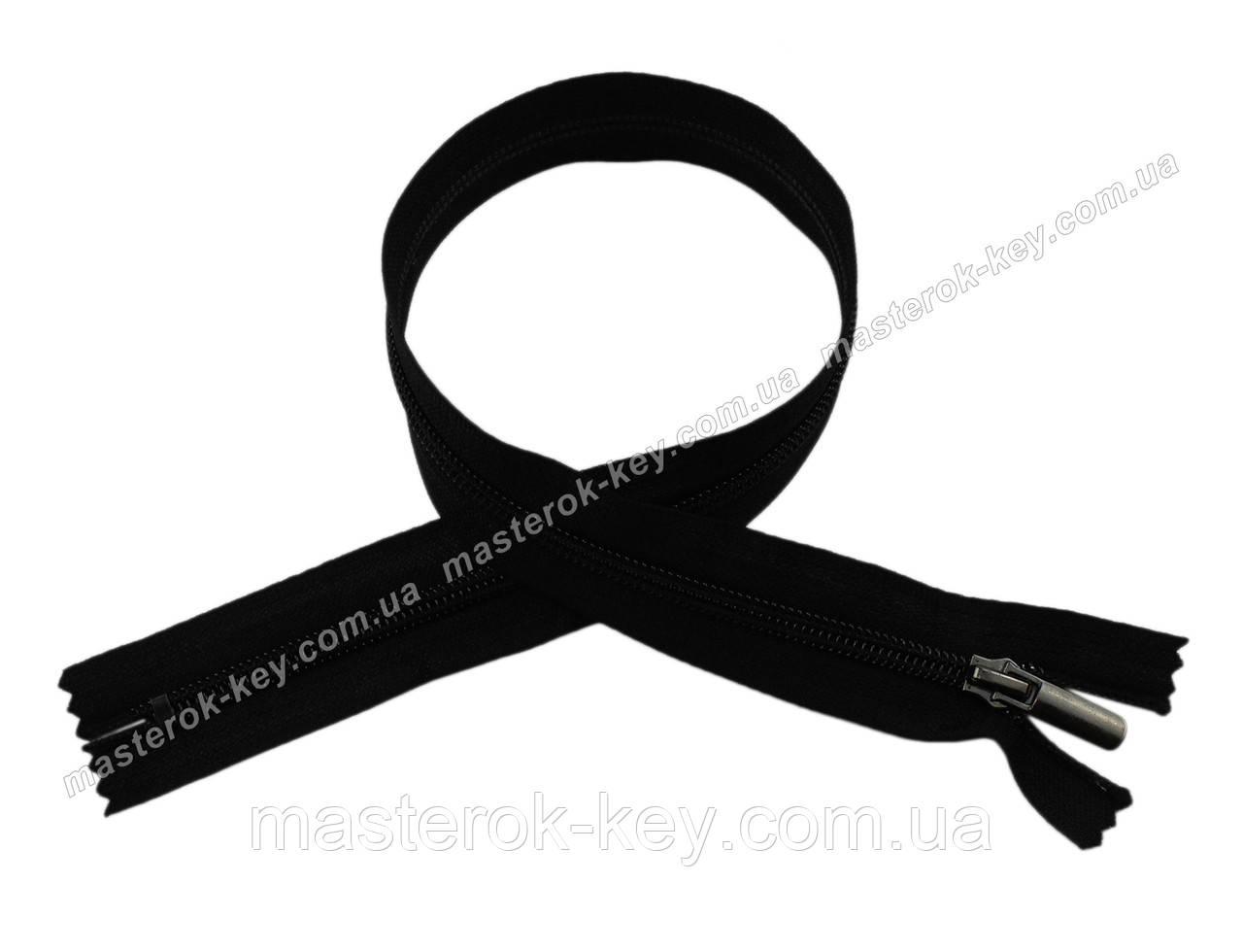 Молния спиральная неразъемная №5 50см цвет черный