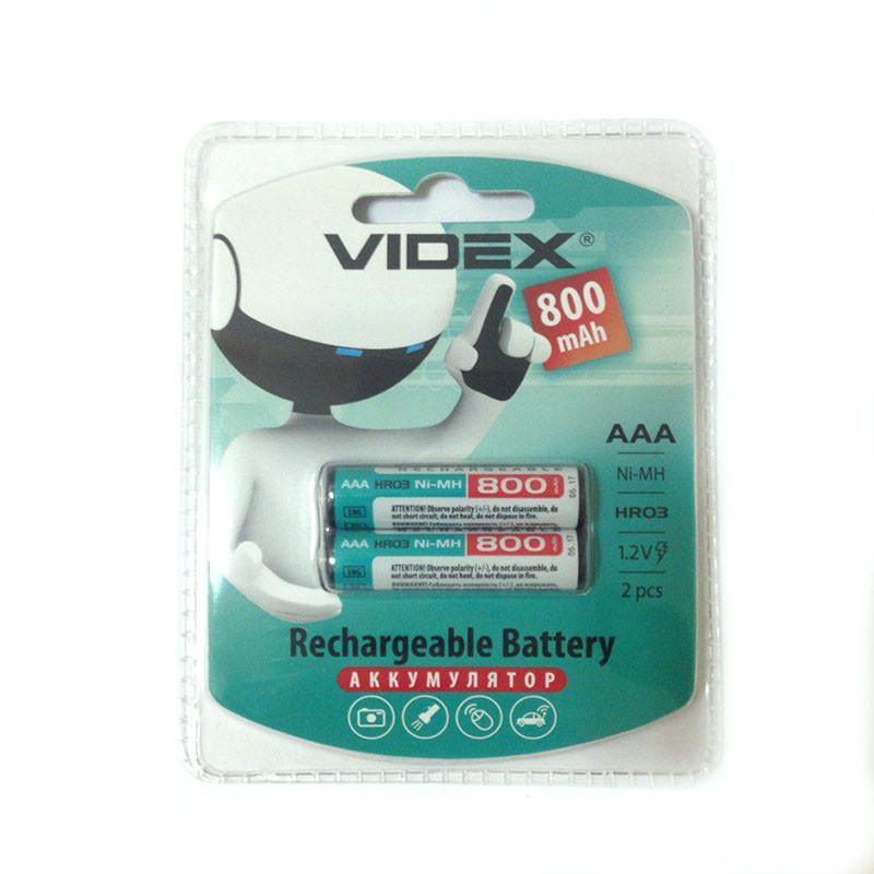 2шт Аккумулятор мизинчик Videx AAA 800 mAh