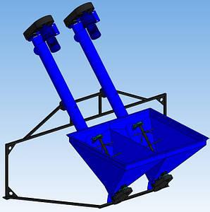 Шнековый транспортер на два гранулятора ШТЗ-200х2. ТехноМашСтрой, без посредников.