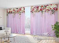 """Фото Шторы """"Розовые ламбрекены из цветов"""""""