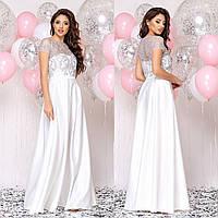 """Вечернее белое платье в пол, свадебное, на роспись """"Меллони"""""""