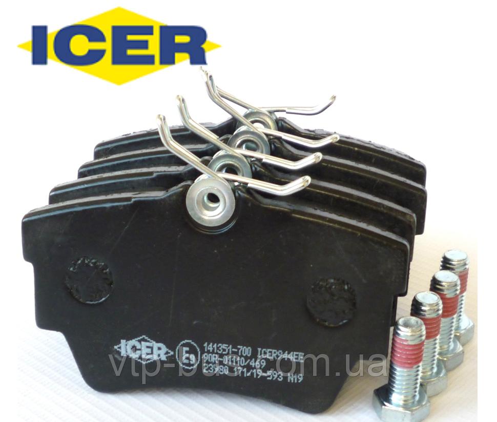 Тормозные колодки задние Renault Trafic / Opel Vivaro / Nissan Primastar (2001-2014) ICER (Испания) 141351700