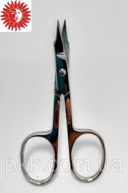 Ножницы для удаления кутикулы Q.P.I. PROFESSIONAL маникюрные проффесиональные изогнутые металл 9,5 см QP-27
