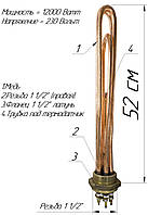 "Блок-ТЭН 12,0 кВт 1,5"" медный, фото 1"
