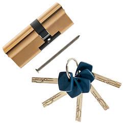 Цилиндровый механизм Apecs Premier XR-60 мм (30х30)-G золото ключ/ключ