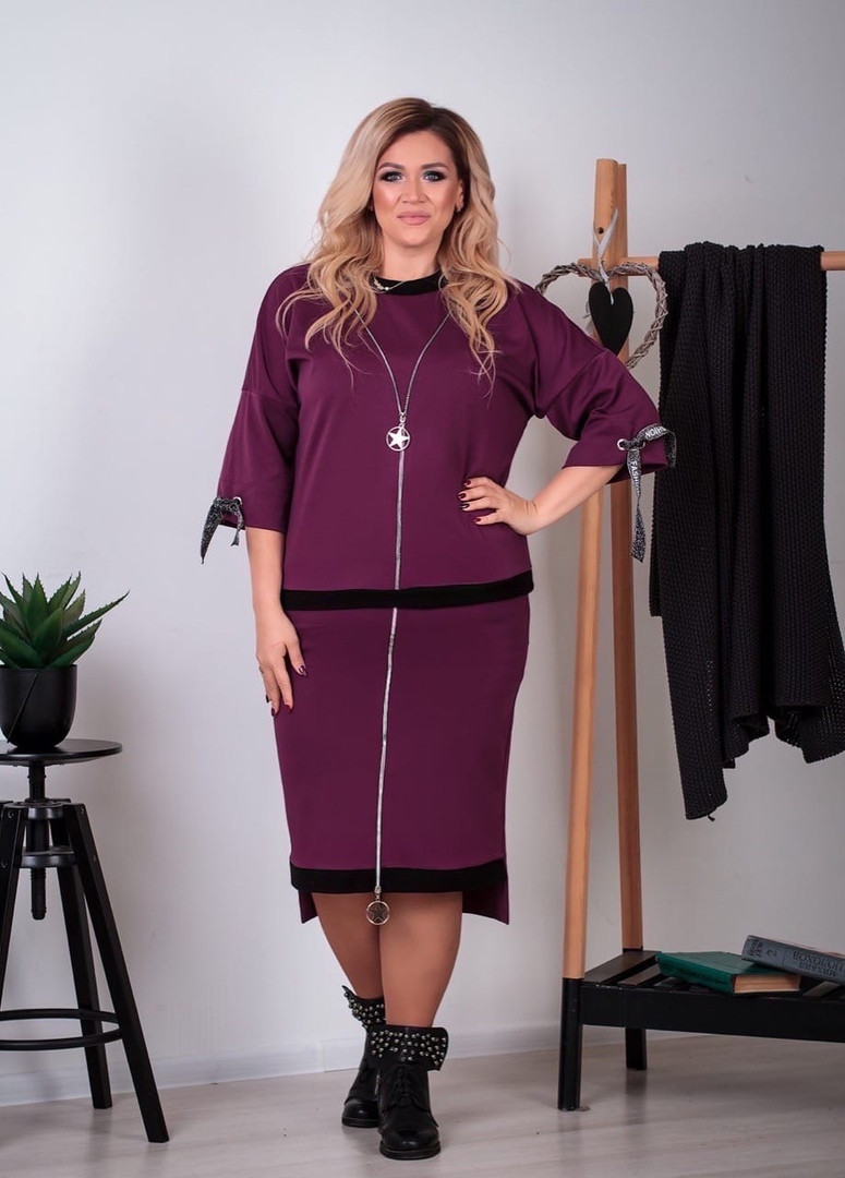 Костюм женский большого размера юбка на резинке Размеры: 52-54,56-58,60-62,