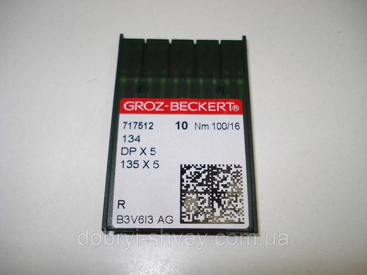 """Иглы  для промышленных швейных машин """"GROZ-BECKERT"""" DPx5 100/16 R (10шт)"""
