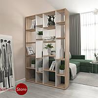 Книжная полка, стеллаж для книг и декора, этажерка для игрушекна 20ячеек D-2