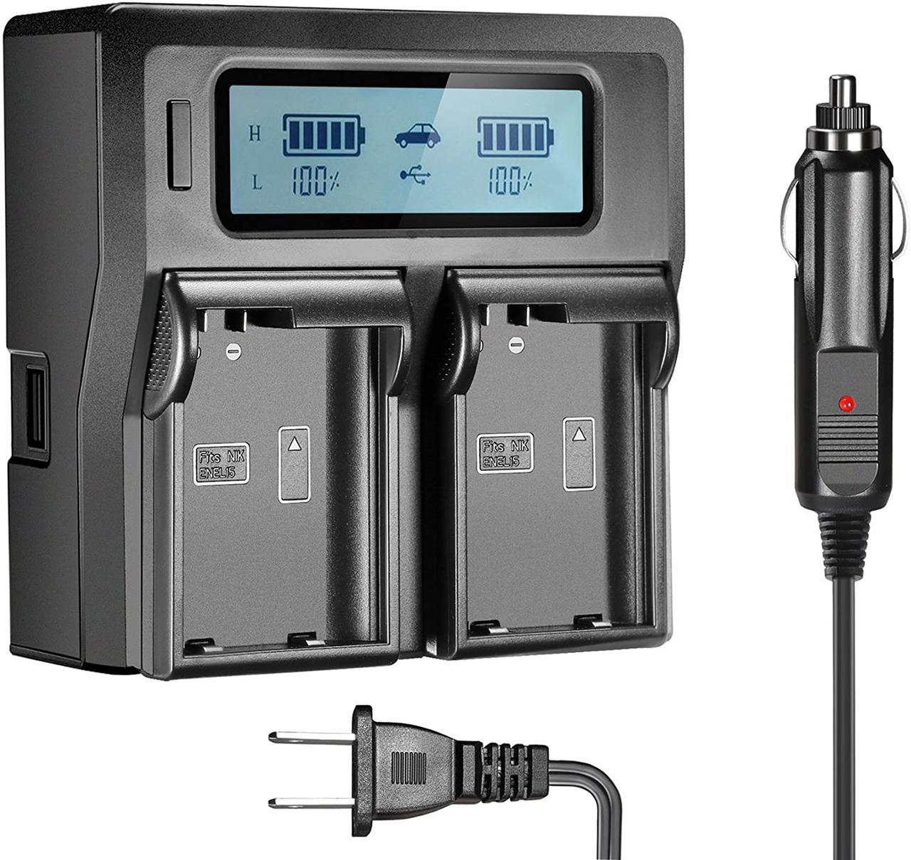 Подвійне зарядний пристрій Kingma EN-EL15 Для акумуляторів Nikon D810, D750, D7200, D7100, D7000, D800E.
