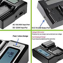 Подвійне зарядний пристрій Kingma EN-EL15 Для акумуляторів Nikon D810, D750, D7200, D7100, D7000, D800E., фото 2