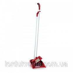 Комплект для подметания, совок и щётка с изящной ручкой красный LSF 111R