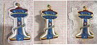 """ЭКСКЛЮЗИВ! НАБОР Силиконовый Молд для леденцов + шпажка + сахарная печать """"Башня Щенячого патруль, 15смя"""""""