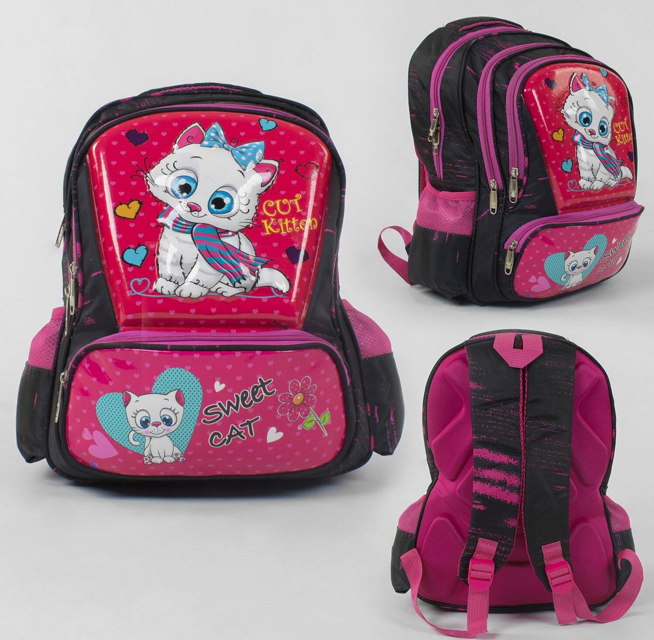 + Подарок Рюкзак школьный 3D принт, 1 отделение, 3 кармана, массажная спинка, в пакете.