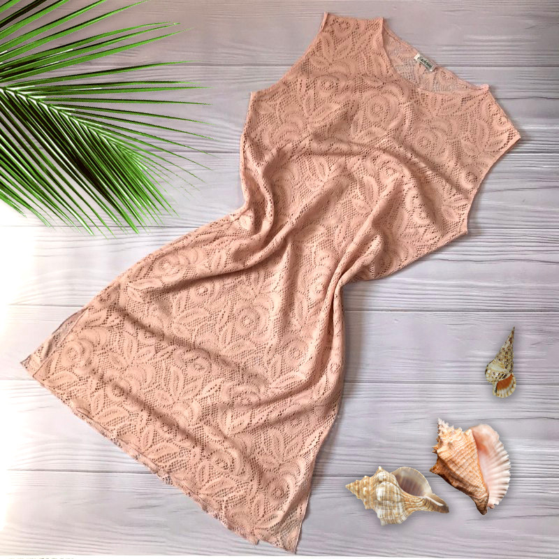 Женская пляжная туника кружевная