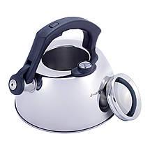 Чайник Kamille 3л из нержавеющей стали со свистком и термометром для индукции и газа KM-1077, фото 3