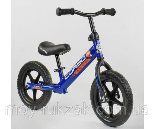 """Велобег детский """"CORSO"""",колеса EVA 12 дюймов, 43118, синий, фото 2"""