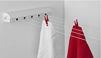 Сушка для белья на стену с раздвижным механизмом, PRIMA NOVA