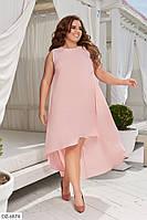 Женская платье летнее розовое Турция батал / большие размеры