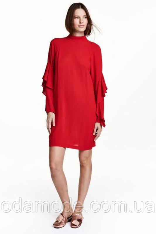 Платье женское красное h&m