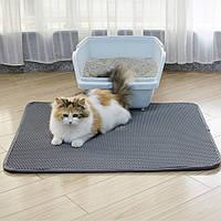 Водонепроницаемый коврик для кошачьего туалета 55x75 Серый