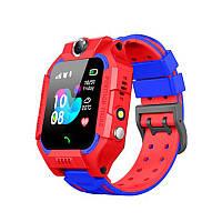 Детские смарт-часы Smart Baby Watch Z6 Red + Blue фонарик звонки контакты чат сим карта магнитная зарядка