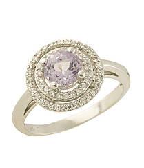 Серебряное кольцо pSilverAlex с натуральным аметистом (0438719)