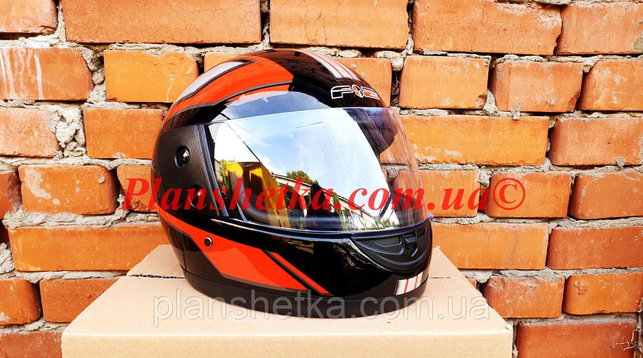 Шлем для мотоцикла Hel-Met F2-825-3 Черный красно с белым глянец
