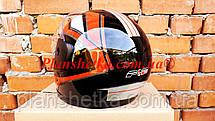 Шлем для мотоцикла Hel-Met F2-825-3 Черный красно с белым глянец, фото 3