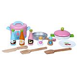 Деревянная детская кухня. Игровая кухня. Развивающая игрушка. Отличный подарок ребенку, фото 4
