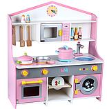 Деревянная детская кухня. Игровая кухня. Развивающая игрушка. Отличный подарок ребенку, фото 5