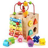 Развивающая деревянная музыкальная игрушка. Уникуб с ксилофоном, фото 2