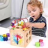 Развивающая деревянная музыкальная игрушка. Уникуб с ксилофоном, фото 3