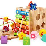 Развивающая деревянная музыкальная игрушка. Уникуб с ксилофоном, фото 4