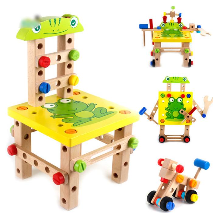 Розвиваюча іграшка конструктор. Стілець трансформер