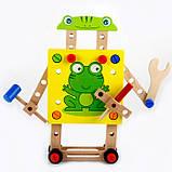 Розвиваюча іграшка конструктор. Стілець трансформер, фото 4