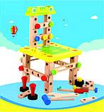 Розвиваюча іграшка конструктор. Стілець трансформер, фото 5