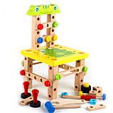 Розвиваюча іграшка конструктор. Стілець трансформер, фото 6