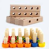 Розвиваюча іграшка конструктор. Стілець трансформер, фото 7