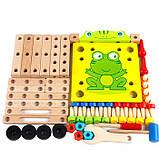 Розвиваюча іграшка конструктор. Стілець трансформер, фото 8