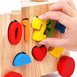 Развивающая деревянная интерактивная игрушка. Вагончик на колесах., фото 5