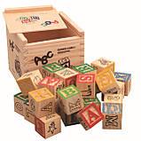 Развивающая деревянная игрушка. Деревянный куб с крышкой и кубиками для самых маленьких., фото 3