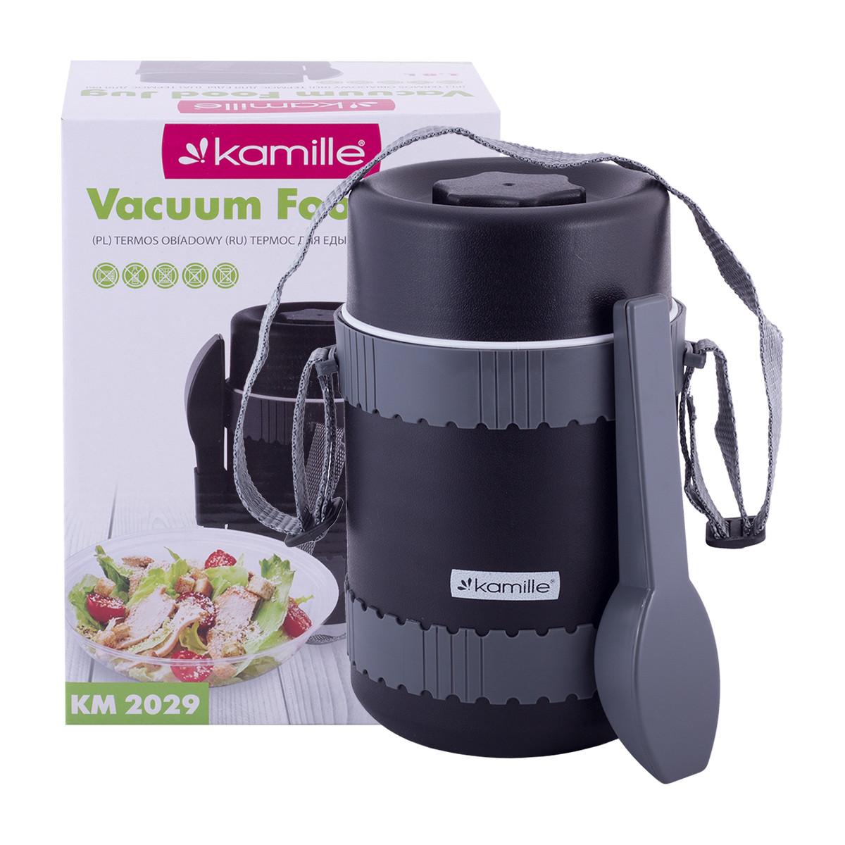 Термос пищевой обеденный для супа Kamille 1800мл пластиковый KM-2029