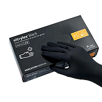Перчатки нитриловые неопудренные NITRYLEX BLACK р.XS, 100 шт