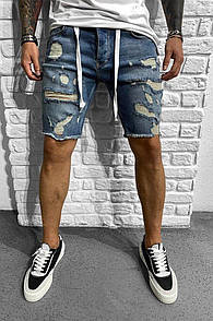 Чоловічі джинсові шорти, Синій