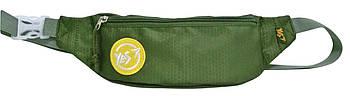 Повседневная поясная сумка бананка YES Green Moss 33х13см Зеленая (557718)